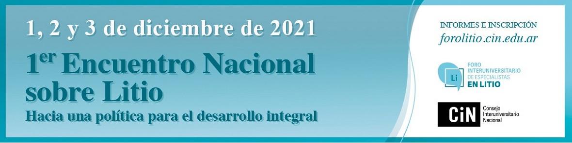 1ER. ENCUENTRO NACIONAL SOBRE LITIO